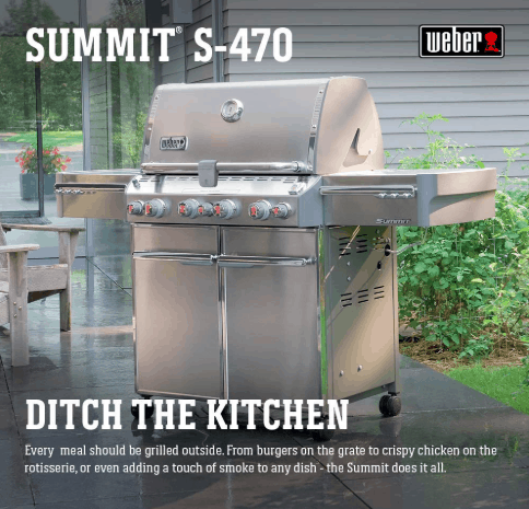 Weber 7170001 Summit S-470 4-Burner