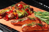 grilling salmon and veggies