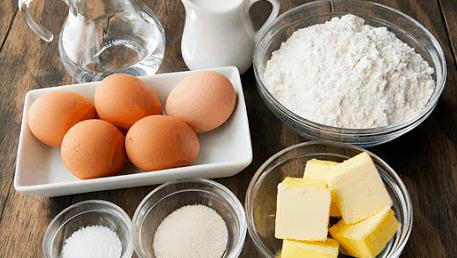 baking using mixer