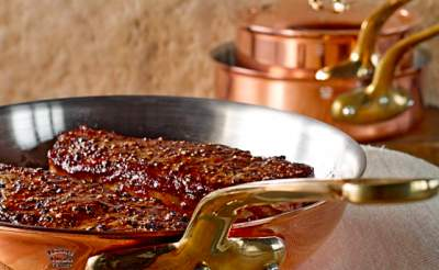 cooking using copper pan