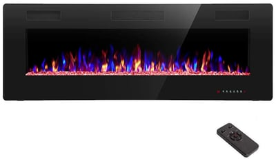 R.W.FLAME 50inch Recessed and Wall Mounted