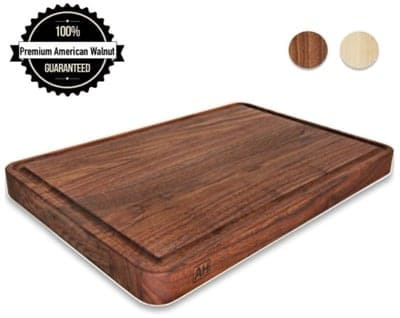 AzrHom Wood Cutting Board Large Walnut