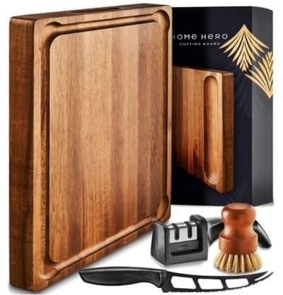 Home Hero Large Wood Cutting Board