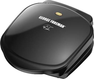 George Foreman 2 Serving Classic Plate Electric Indoor Grill and Panini Press