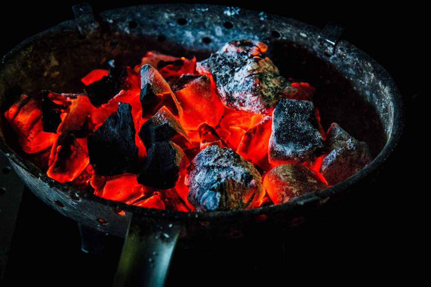 lighting up charcoal