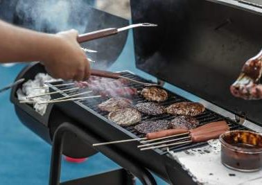 using an insulated grill
