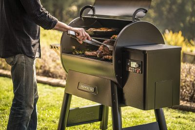 Traeger Ironwood 885 Grill with friends
