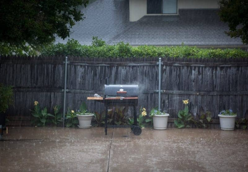 can you grill in the rain