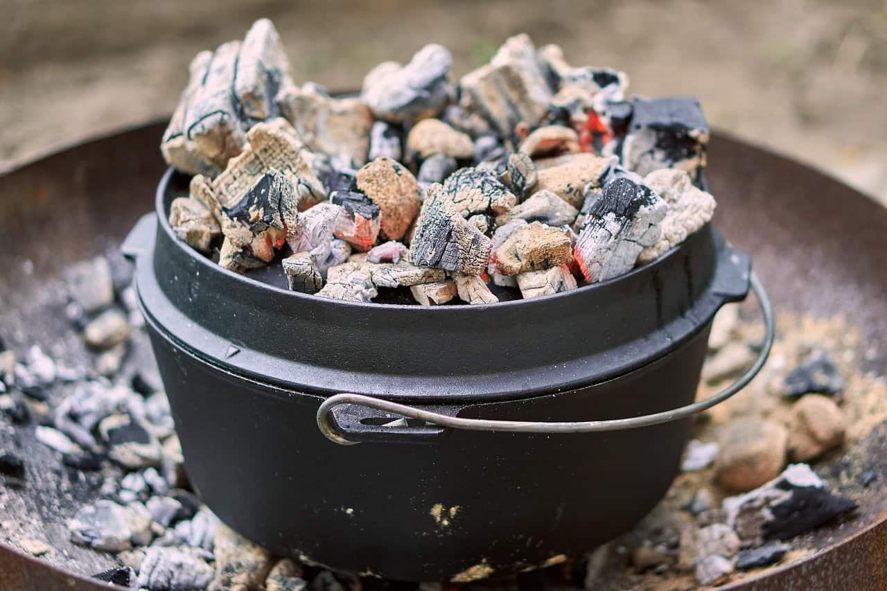 leftover coals