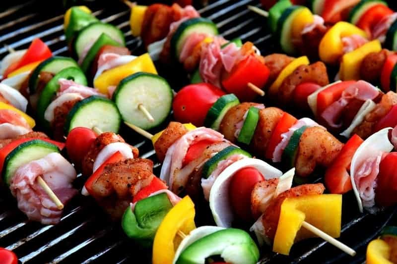 how to cook shish kabobs on a gas grill