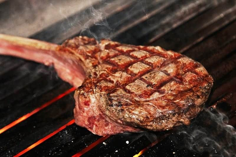 grilling a meat