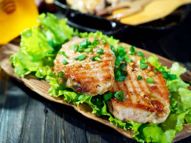 Pork Chops Grilled in Soy and Honey