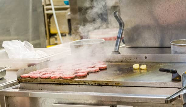 how to clean rust off a commercial griddle