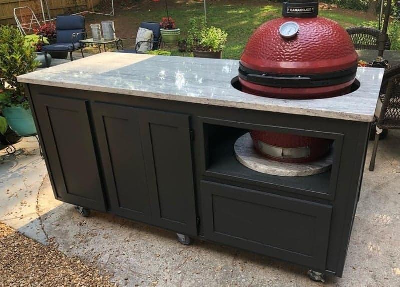 kamado grill table plans