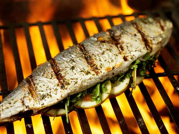 grilling a fish