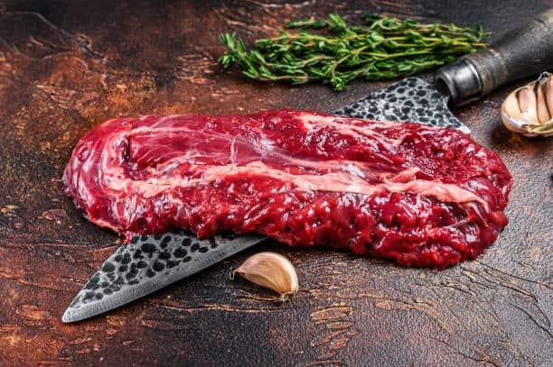 Raw Hanging Tender steak