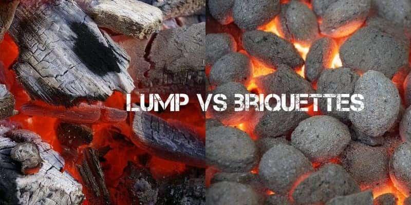 lump charcoal vs briquettes