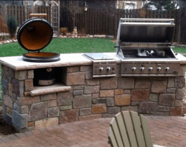 outside built in grill