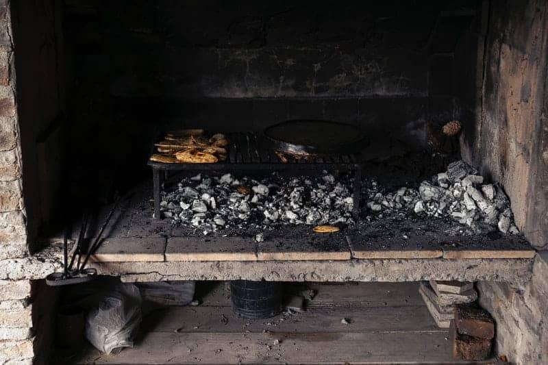 Built-in backyard grill