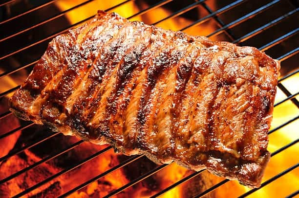 Cooking Ribs Using A Charcoal Grill